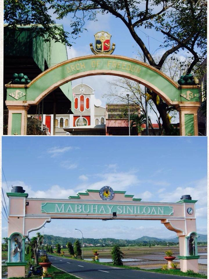 Siniloan arches found in the main town proper (top) and on the National Hwy (bottom)