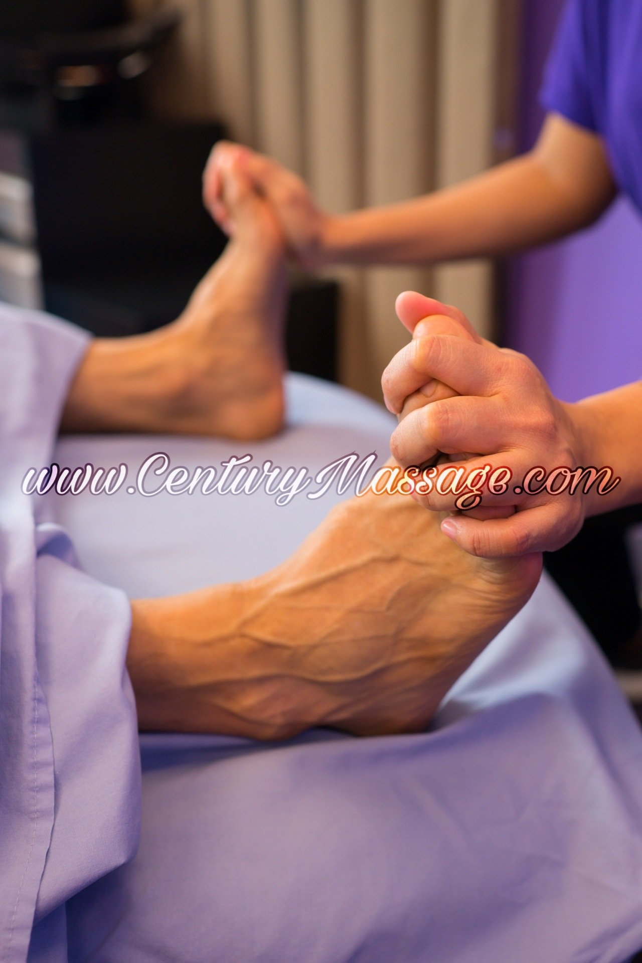 stretching ankles, foot massage